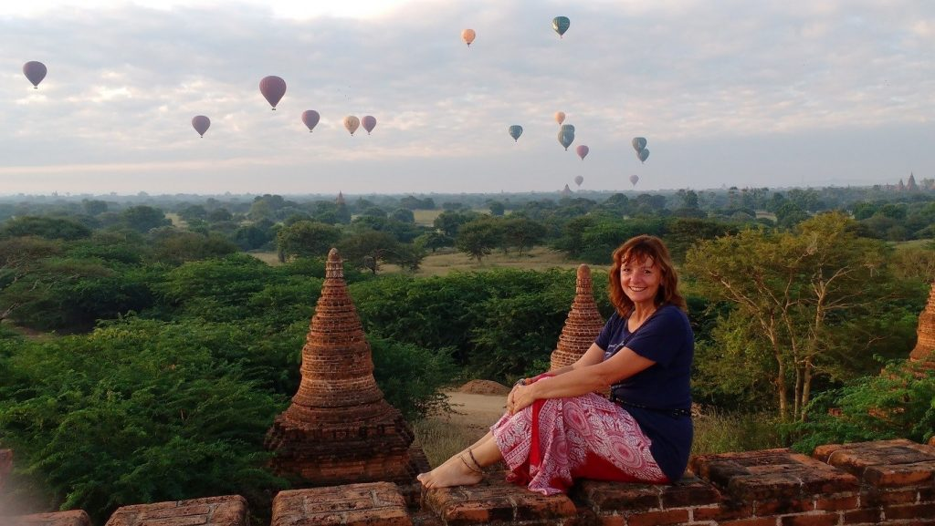 Jane Clements Life Coach sunrise over Bagan